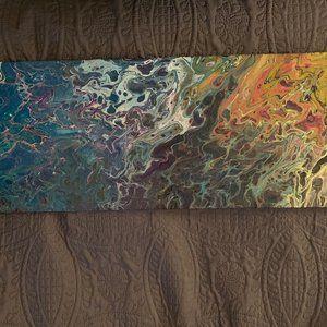 """""""Venice"""" Original Pour Painting on Canvas Large"""